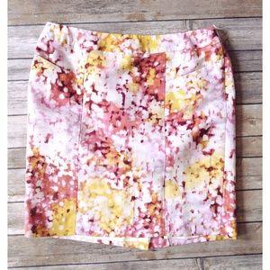 Loft Watercolor Pencil Skirt